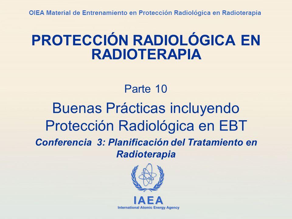 IAEA Parte 10.Buenas prácticas / Conferencia 3a. Planificación del tratamiento12 2.