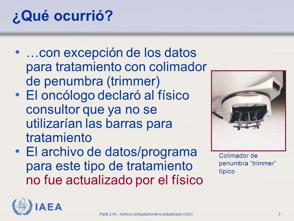 IAEA Parte 2.04.Archivo computacional no actualizado (USA)3 ¿Qué ocurrió.
