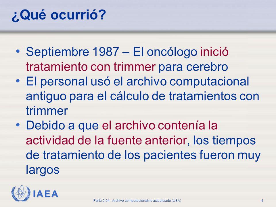 IAEA Parte 2.04.Archivo computacional no actualizado (USA)4 ¿Qué ocurrió.