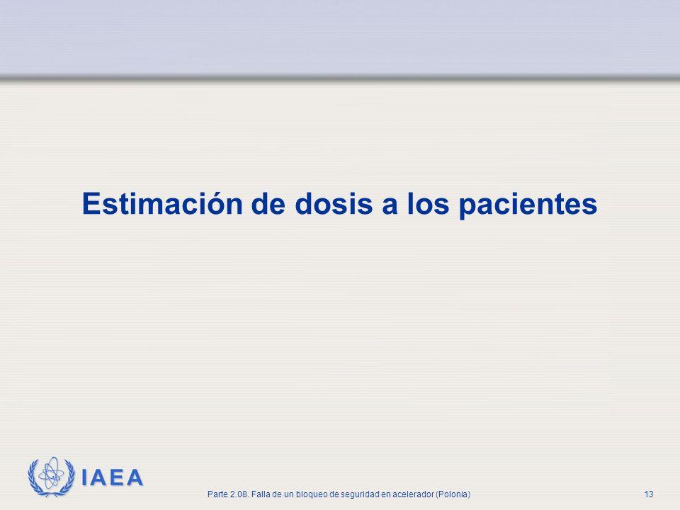 IAEA Parte 2.08. Falla de un bloqueo de seguridad en acelerador (Polonia)13 Estimación de dosis a los pacientes
