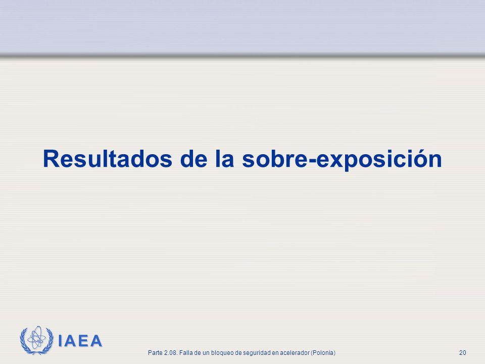 IAEA Parte 2.08. Falla de un bloqueo de seguridad en acelerador (Polonia)20 Resultados de la sobre-exposición