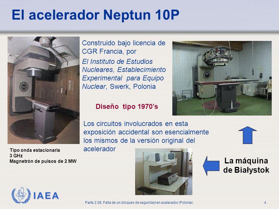 IAEA Parte 2.08. Falla de un bloqueo de seguridad en acelerador (Polonia)4 El acelerador Neptun 10P La máquina de Białystok Construido bajo licencia d