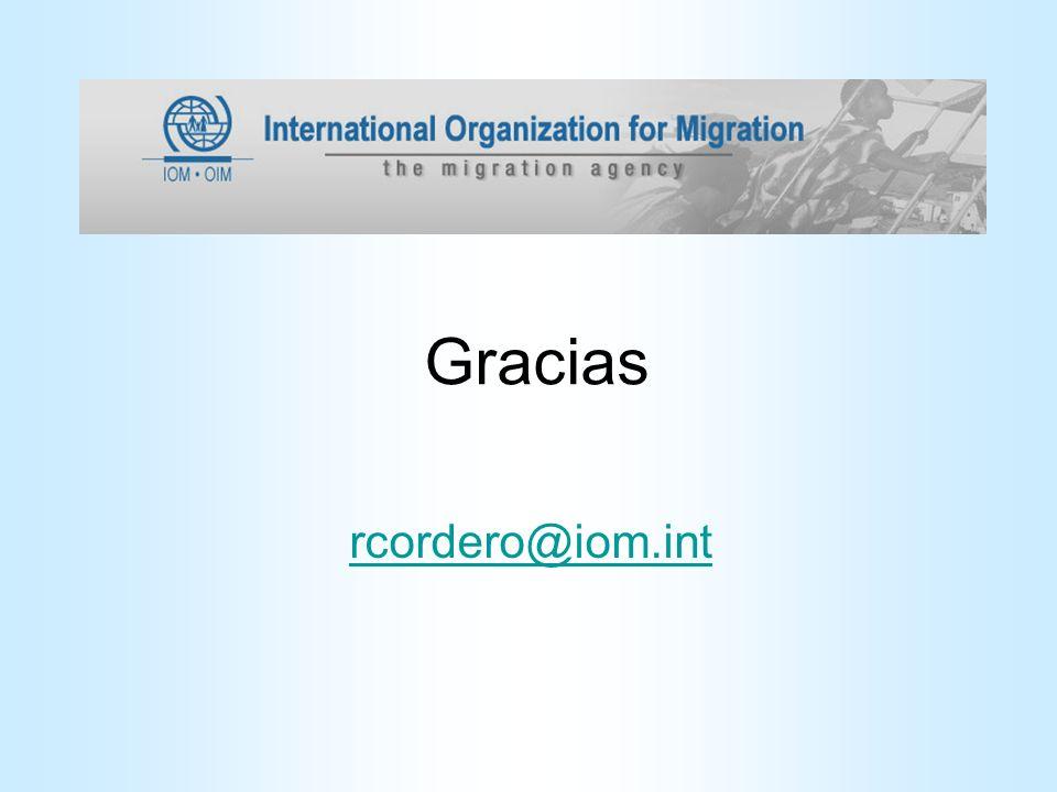 Gracias rcordero@iom.int
