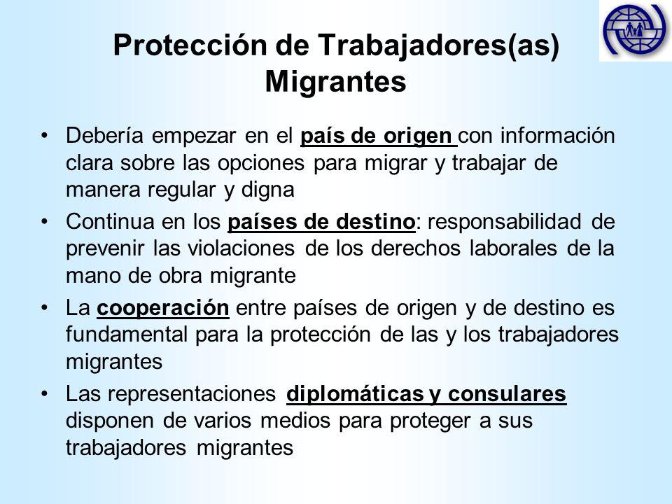 Protección de Trabajadores(as) Migrantes Debería empezar en el país de origen con información clara sobre las opciones para migrar y trabajar de maner