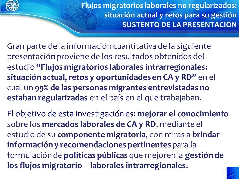Gran parte de la información cuantitativa de la siguiente presentación proviene de los resultados obtenidos del estudio Flujos migratorios laborales i