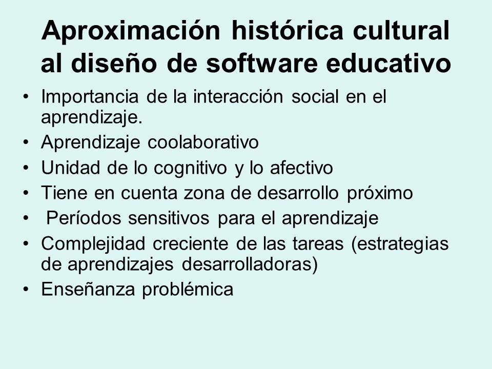 Aproximación histórica cultural al diseño de software educativo Importancia de la interacción social en el aprendizaje. Aprendizaje coolaborativo Unid
