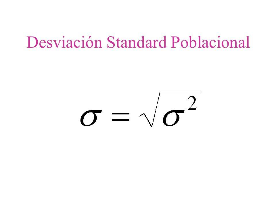 Desviación Standard Poblacional