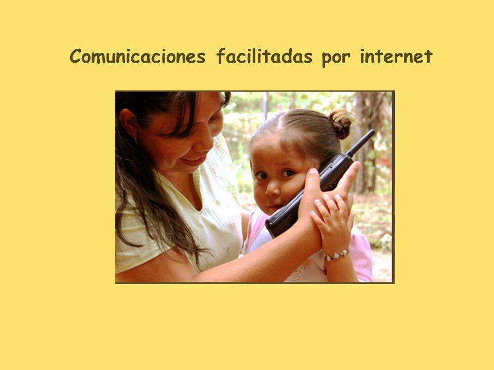 Comunicaciones facilitadas por internet
