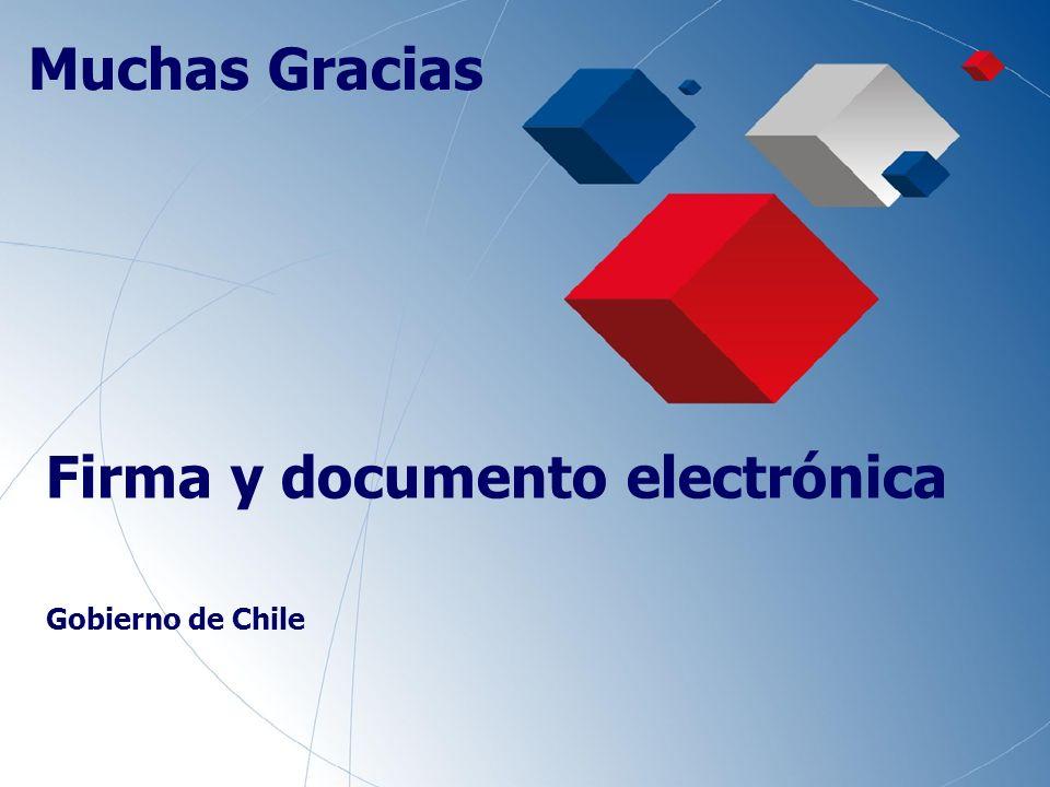 19 Firma y documento electrónica Gobierno de Chile Muchas Gracias