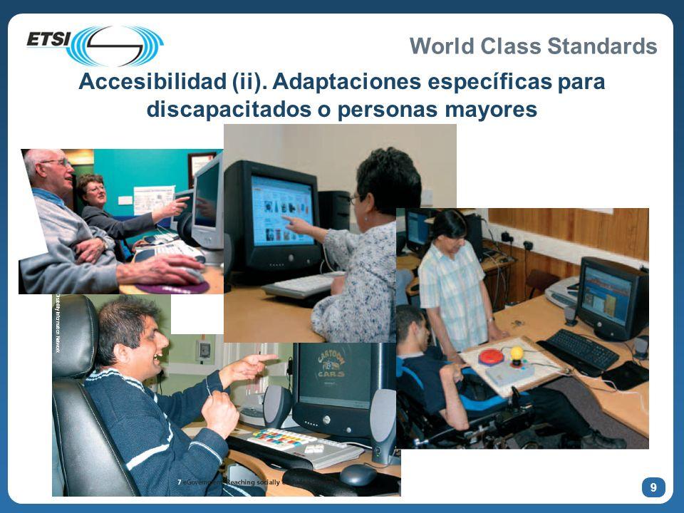 World Class Standards Accesibilidad (ii). Adaptaciones específicas para discapacitados o personas mayores 9