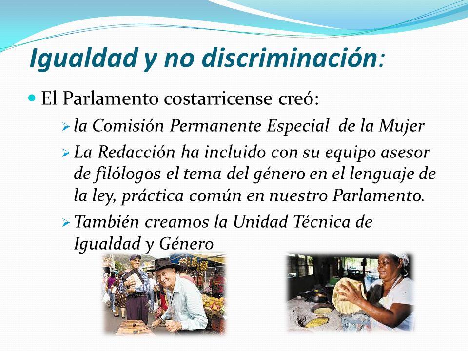 Igualdad y no discriminación: El Parlamento costarricense creó: la Comisión Permanente Especial de la Mujer La Redacción ha incluido con su equipo ase