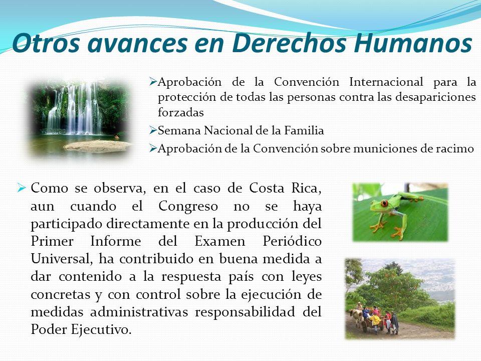 Otros avances en Derechos Humanos Aprobación de la Convención Internacional para la protección de todas las personas contra las desapariciones forzada