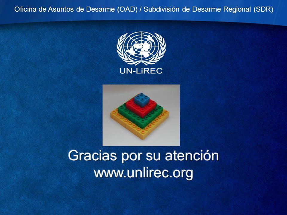 Oficina de Asuntos de Desarme (OAD) / Subdivisión de Desarme Regional (SDR)