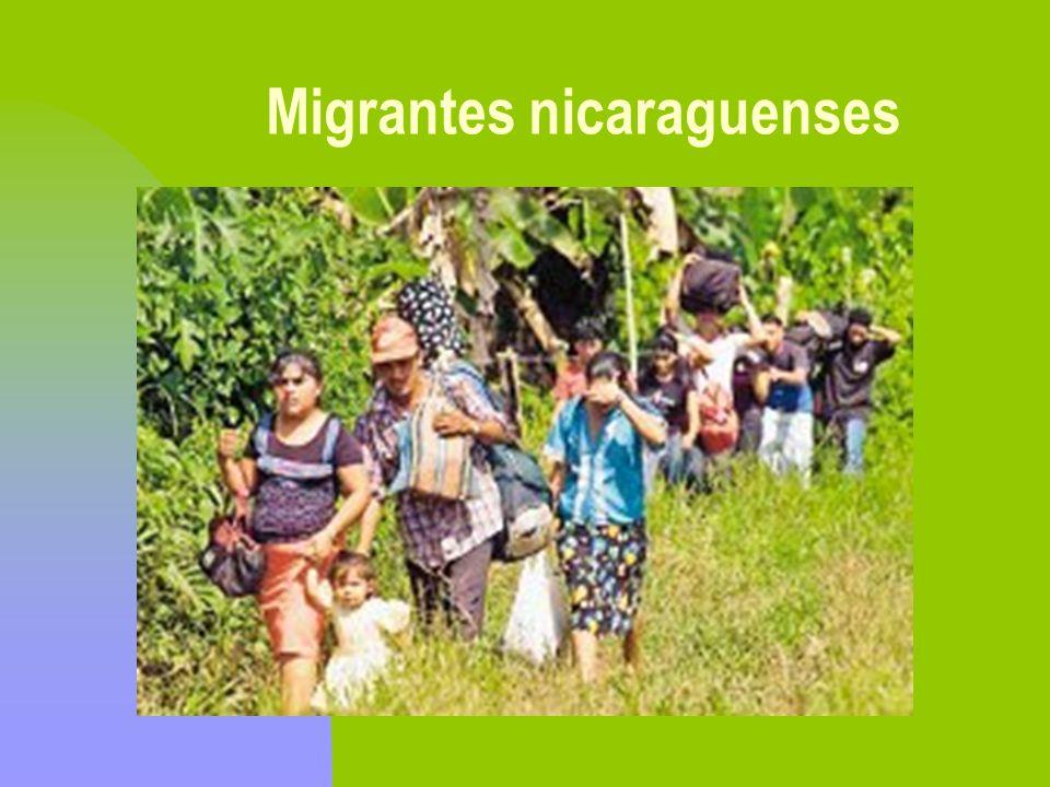 Migrantes nicaraguenses
