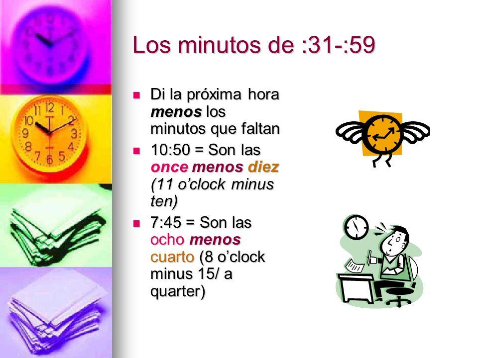 Práctica 3:40 pm 3:40 pm 5:35 am 5:35 am 8:48 pm 8:48 pm 11:37 am 11:37 am 12:57 pm 12:57 pm Son las cuatro menos veinte de la tarde.