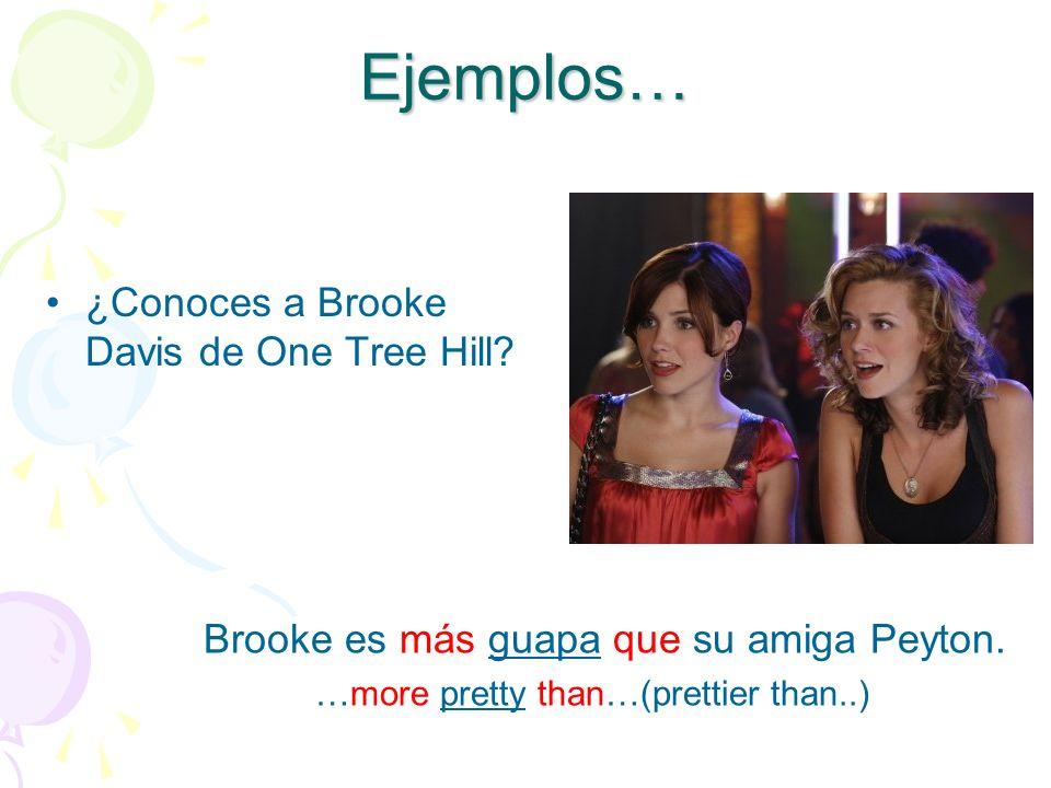 Ejemplos… ¿Conoces a Brooke Davis de One Tree Hill.