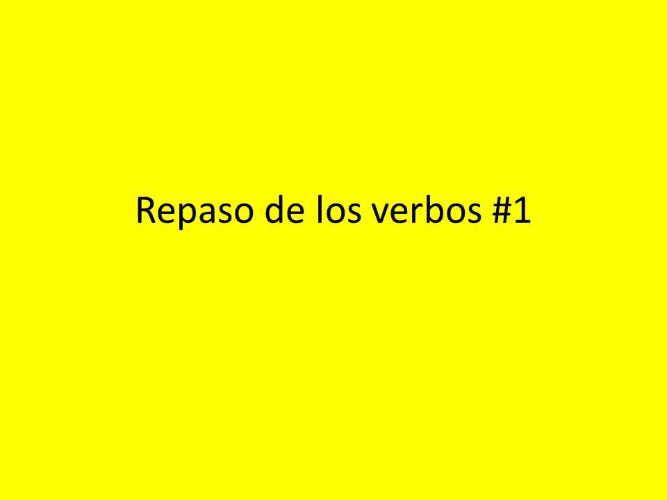 Repaso de los verbos #1