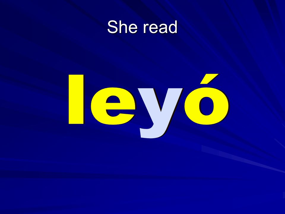 She read