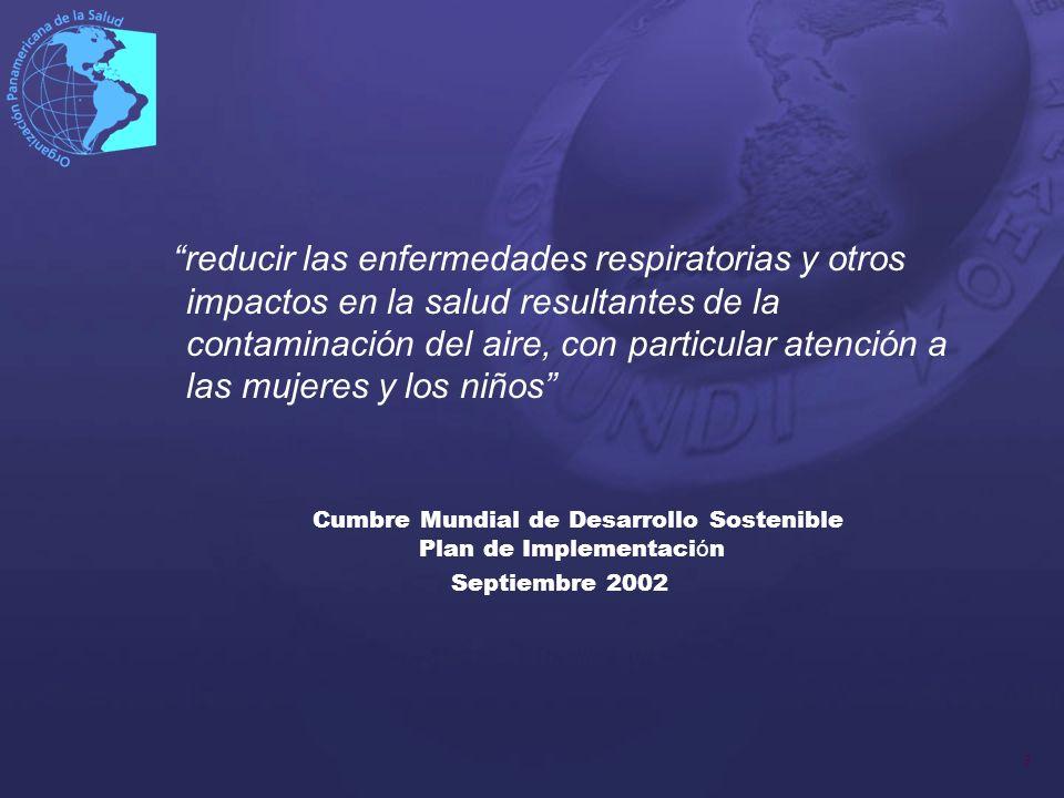 14 Plan de Trabajo – Día 1 Contexto Regional e internacional del impacto de la contaminación del aire en la salud.
