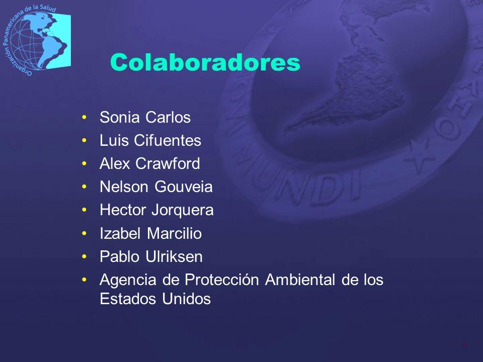 32 Colaboradores Sonia Carlos Luis Cifuentes Alex Crawford Nelson Gouveia Hector Jorquera Izabel Marcilio Pablo Ulriksen Agencia de Protección Ambient