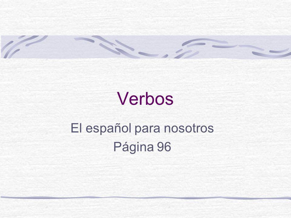 Verbos 1. El verbo es la parte de la oración que expresa una acción o un estado