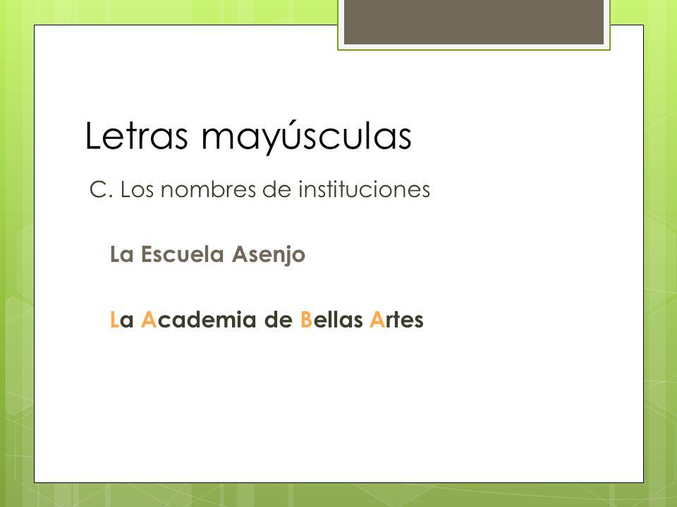 Letras mayúsculas Comparando el español con el inglés En todos los casos que es obligatorio el uso de la mayúscula en español, lo es inglés también Pero la mayúscula se usa con más frecuencia en inglés que en español