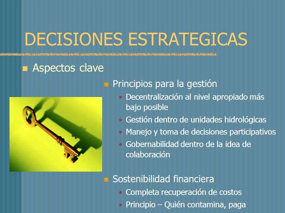 CONCLUSIONES La estrategia convierte la visión en objetivos y metas concretas El plan de acción es desarrollado tomando las estrategias como punto de partida Las estrategias deberían ser probadas de acuerdo a El punto de vista de los actores interesados Factibilidad incluyendo el análisis de los riesgos El balance entre pro y contras, beneficios y perjuicios Los costos asociados