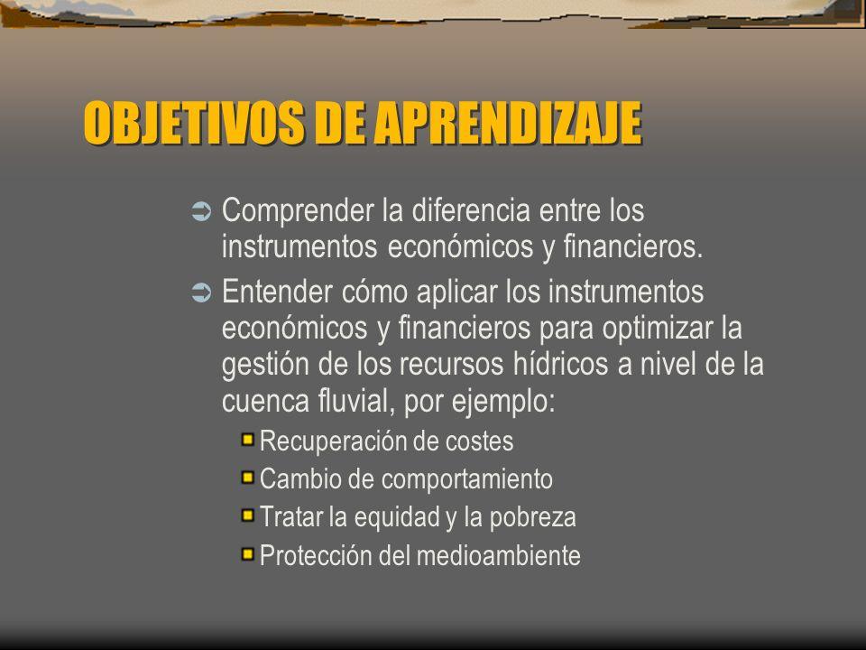 Asignación del agua Instrumentos financieros Cargo por permisos.