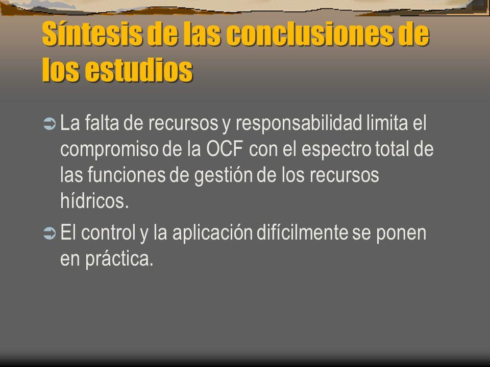 Estructura Curso estructurado en torno a las funciones principales de la gestión de los recursos hídricos en una cuenca; éstas son principalmente regulatorias.