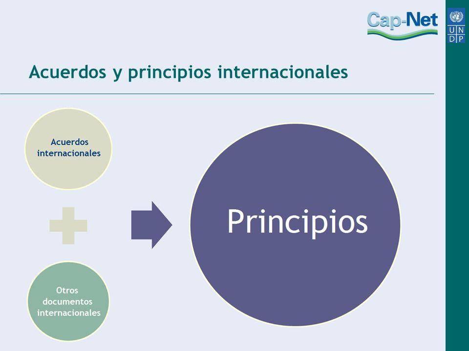 Acuerdos y principios internacionales