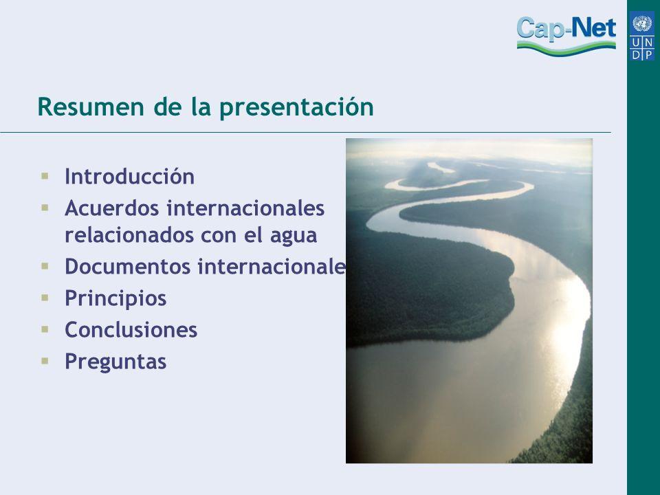 En vista al futuro ¿Qué componentes son necesarios para incrementar la eficiencia de los acuerdos internacionales relacionados con el agua.