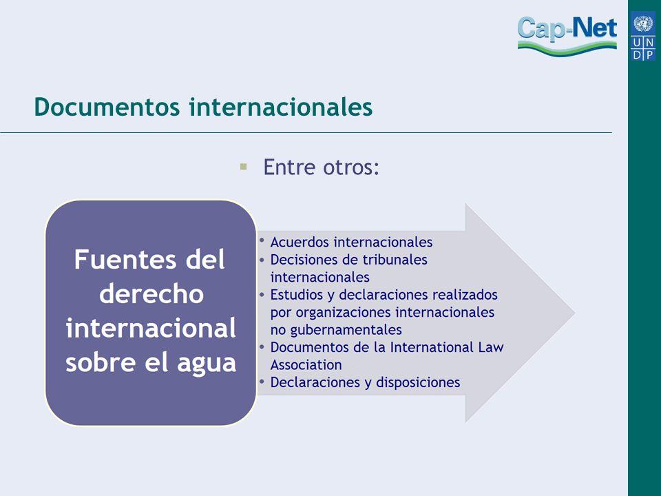 Documentos internacionales Entre otros: