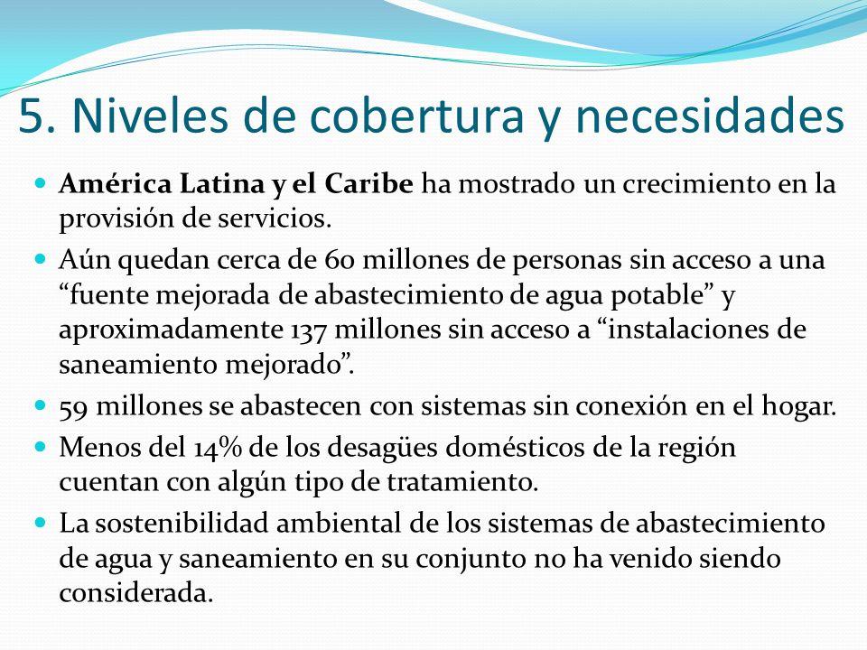 América Latina y el Caribe ha mostrado un crecimiento en la provisión de servicios. Aún quedan cerca de 60 millones de personas sin acceso a una fuent