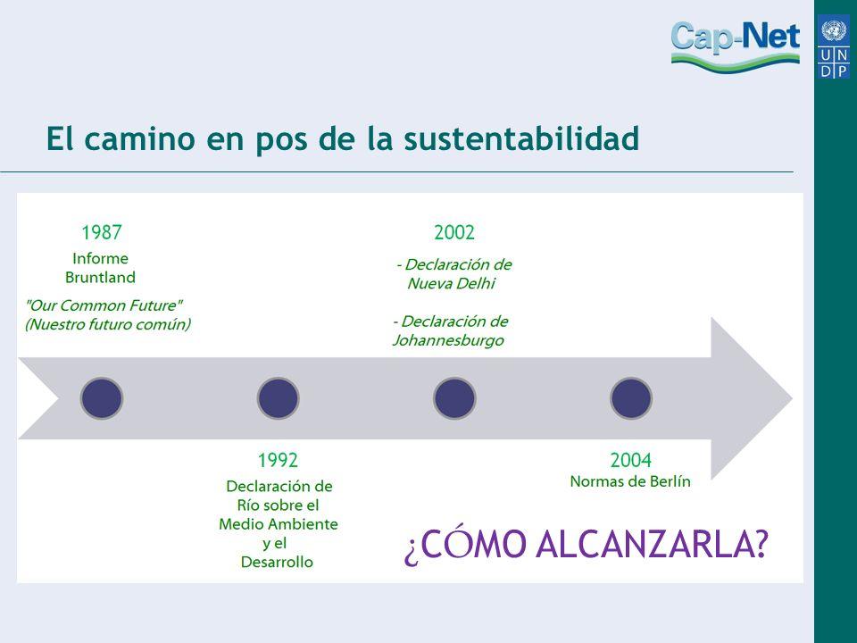 El camino en pos de la sustentabilidad ¿ C Ó MO ALCANZARLA?