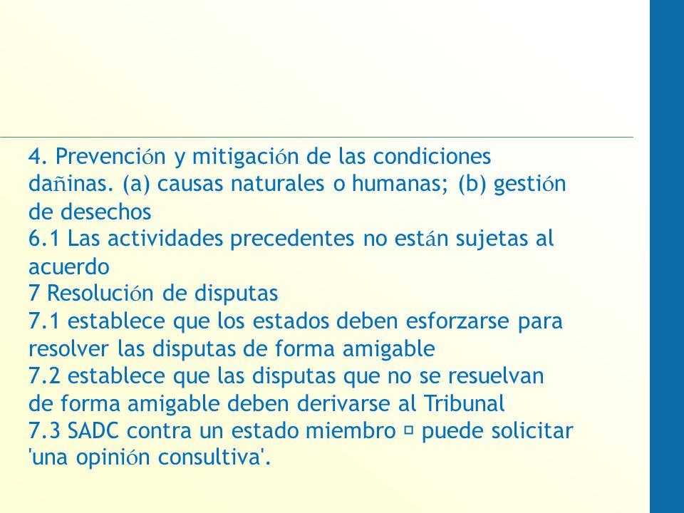 4. Prevenci ó n y mitigaci ó n de las condiciones da ñ inas.