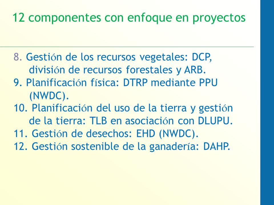 8. Gesti ó n de los recursos vegetales: DCP, divisi ó n de recursos forestales y ARB.