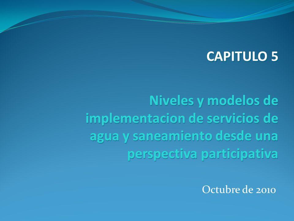 Octubre de 2010 Niveles y modelos de implementacion de servicios de agua y saneamiento desde una perspectiva participativa CAPITULO 5