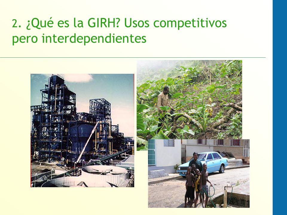2. ¿Qué es la GIRH? Usos competitivos pero interdependientes