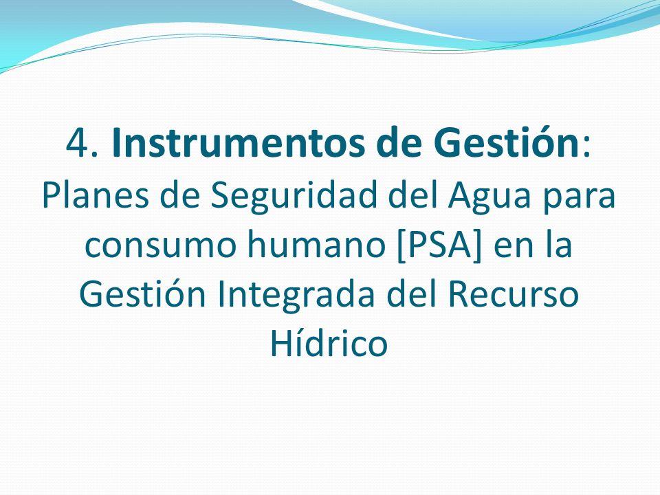4. Instrumentos de Gestión: Planes de Seguridad del Agua para consumo humano [PSA] en la Gestión Integrada del Recurso Hídrico
