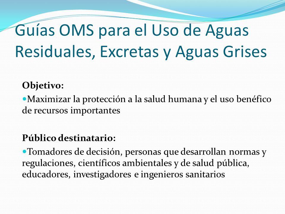 Objetivo: Maximizar la protección a la salud humana y el uso benéfico de recursos importantes Público destinatario: Tomadores de decisión, personas qu