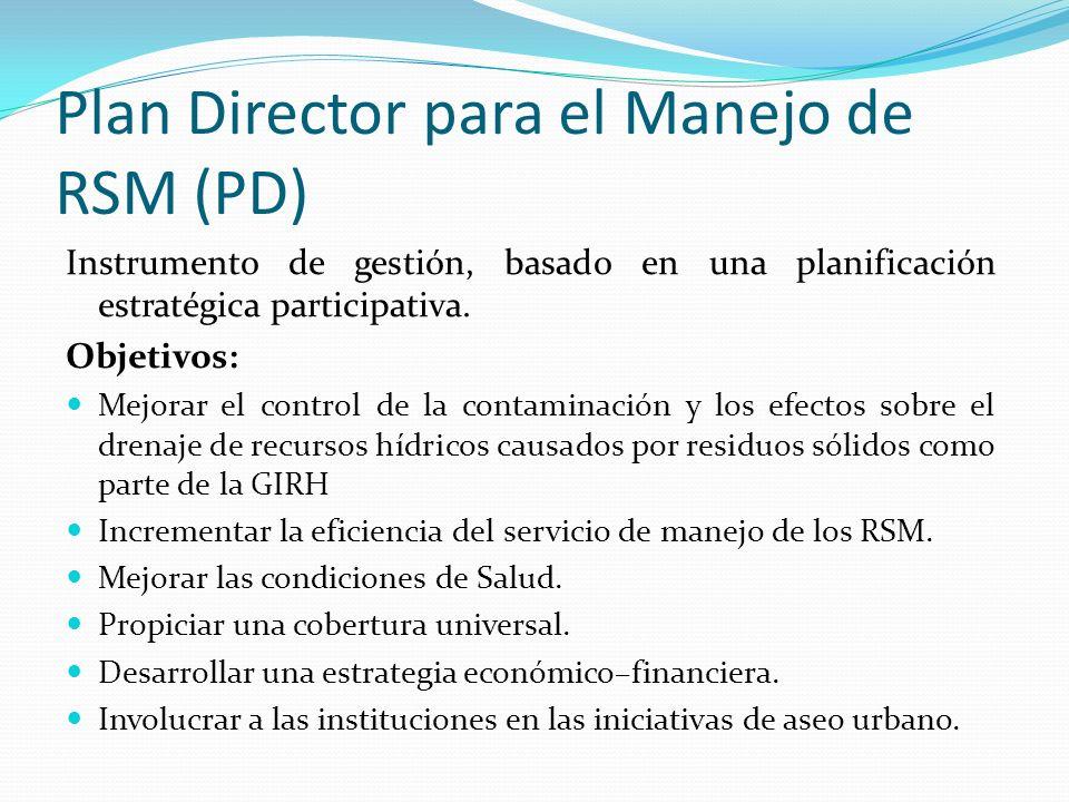 Instrumento de gestión, basado en una planificación estratégica participativa. Objetivos: Mejorar el control de la contaminación y los efectos sobre e
