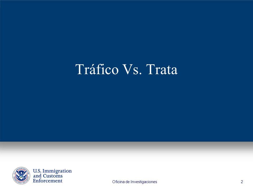 Oficina de Investigaciones 2 Tráfico Vs. Trata