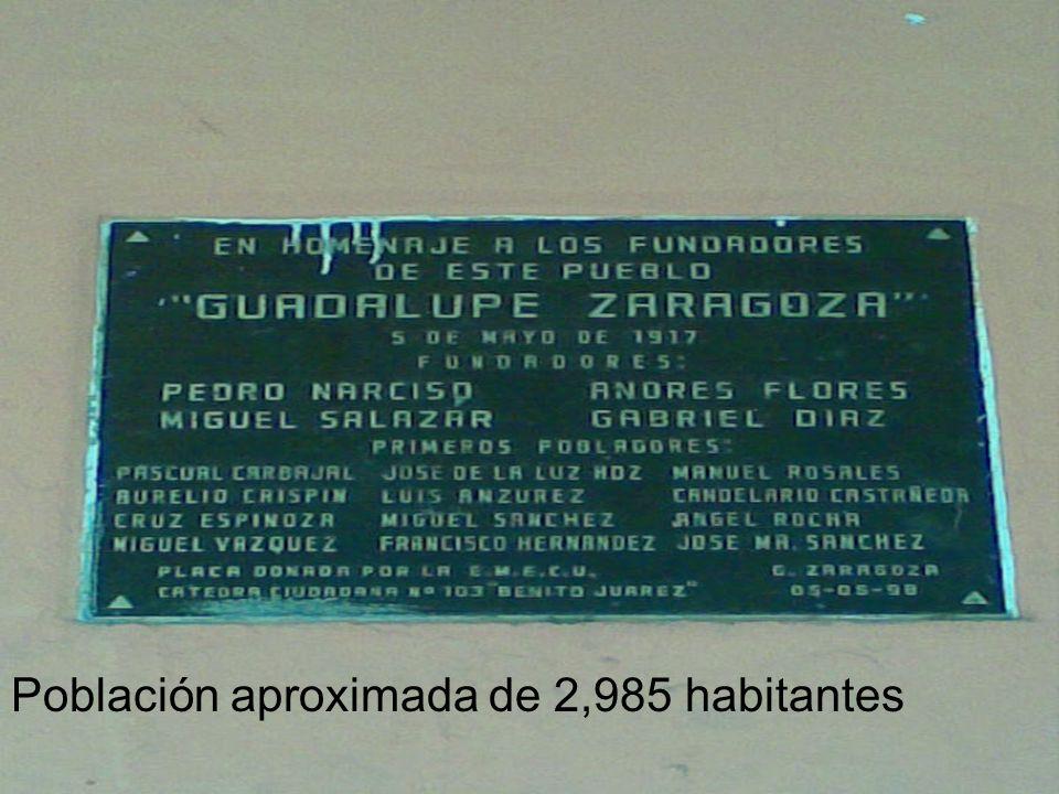 Población aproximada de 2,985 habitantes