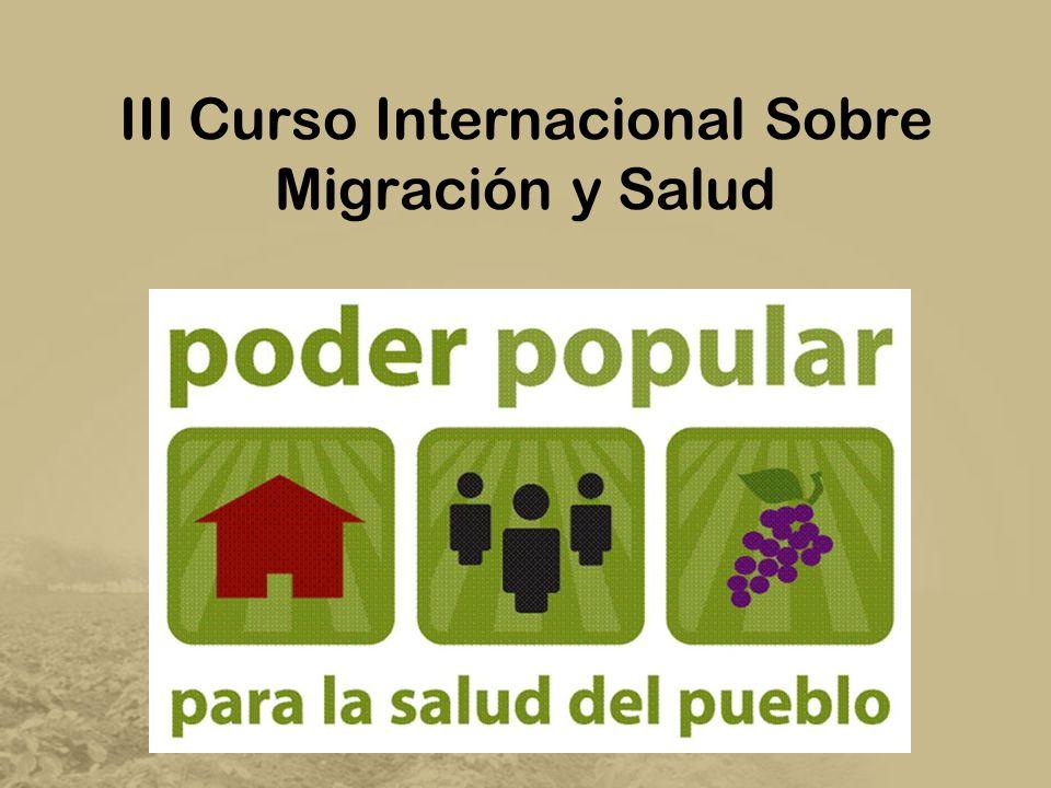 III Curso Internacional Sobre Migración y Salud