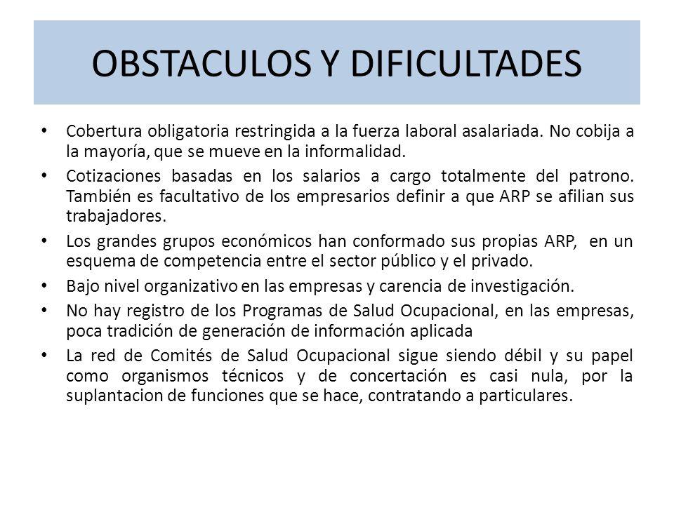 SISTEMA DE RIESGOS PROFESIONALES DEFORMADO POR LA PRIVATIZACION La privatización convirtió a los empresarios, generadores del riesgo, en aseguradores del mismo, o sea en juez y parte.