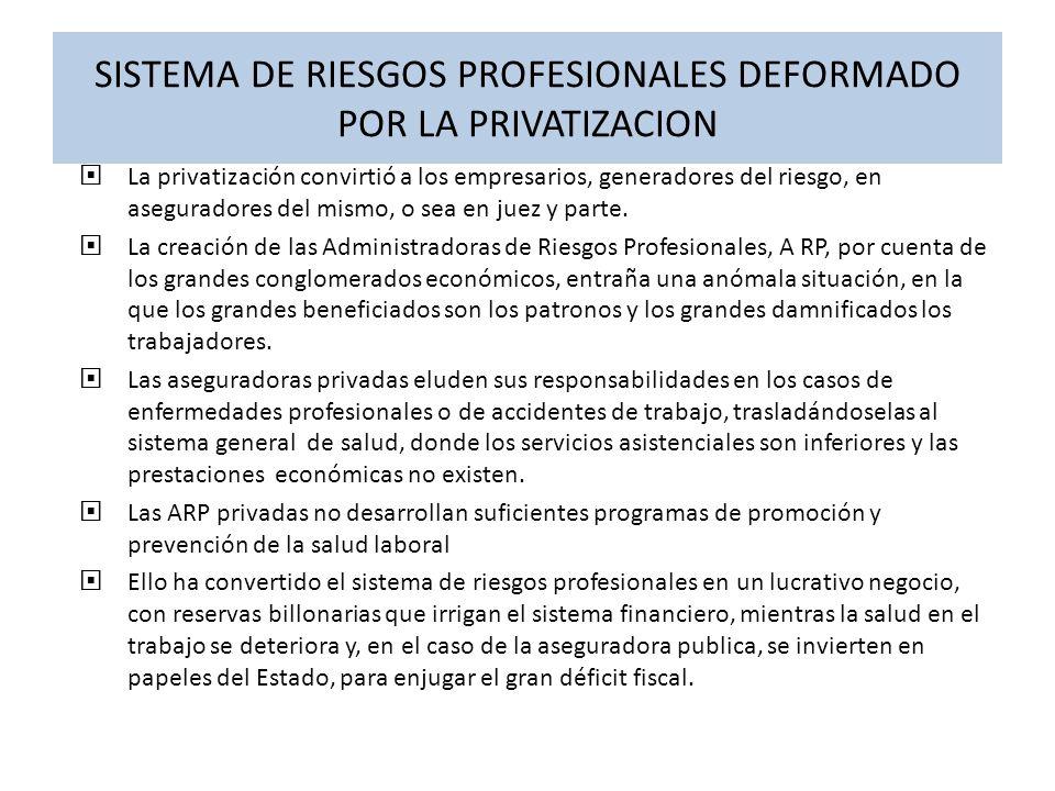 CAPACITACION Y CONTROL La ejerce la Dirección de Riesgos Profesionales del Ministerio de Protección Social, pero no cuenta con el apoyo administrativo y científico suficiente.
