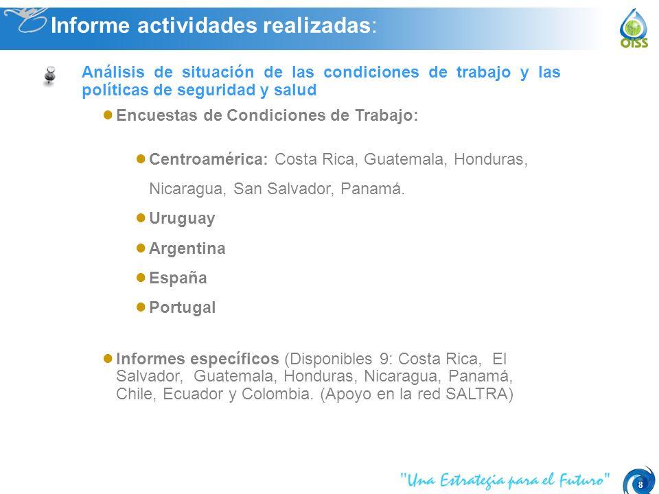 8 Encuestas de Condiciones de Trabajo: Centroamérica: Costa Rica, Guatemala, Honduras, Nicaragua, San Salvador, Panamá.