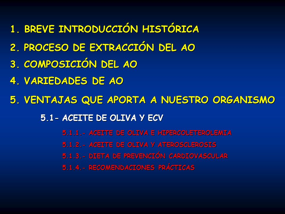 5.3.- EL ACEITE DE OLIVA Y LA INFANCIA 5.3.- EL ACEITE DE OLIVA Y LA INFANCIA 5.4.- EL ACEITE DE OLIVA Y EL ENVEJECIMIENTO 5.5.- EL ACEITE DE OLIVA Y EL APARATO HEPATOBILIAR 5.5.- EL ACEITE DE OLIVA Y EL APARATO HEPATOBILIAR 5.6.- EL ACEITE DE OLIVA Y LA HIPERTENSIÓN ARTERIAL 5.7.- EL ACEITE DE OLIVA Y LA DIABETES 5.8.- EL ACEITE DE OLIVA Y LAS NEOPLASIA 5.2.- ACTIVIDAD ANTIOXIDANTE DEL ACEITE DE OLIVA 5.2.- ACTIVIDAD ANTIOXIDANTE DEL ACEITE DE OLIVA 5.2.1.- FUNDAMENTOS FISIOLÓGICOS DEL PROCESO OXIDATIVO 5.2.2.- CAPACIDAD ANTIOXIDANTE DEL AO VIRGEN 5.2.3.- ¿SUPLEMENTACIÓN DIARIA CON SUSTANCIAS ANTIOXIDANTES.
