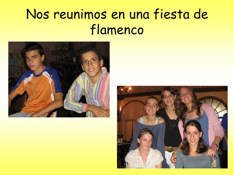 Nos reunimos en una fiesta de flamenco
