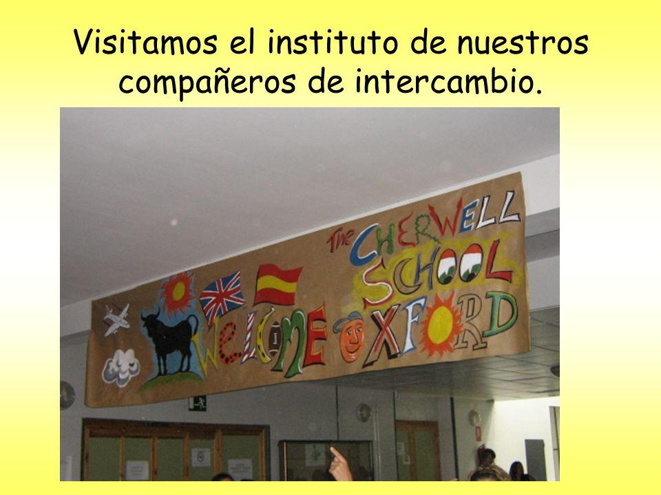 Visitamos el instituto de nuestros compañeros de intercambio.